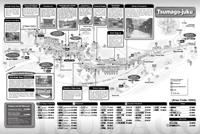 Tsumago Post Town - Magome Post Town Guide Map