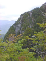 View from the mountain trail below