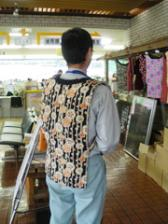 Staffs of Nagiso Town Hall wear neko at work. Reduces heating expense and is eco-friendly.