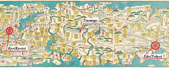 Ancient Map Of Japan.Step1 Learn The History Of Tsumago